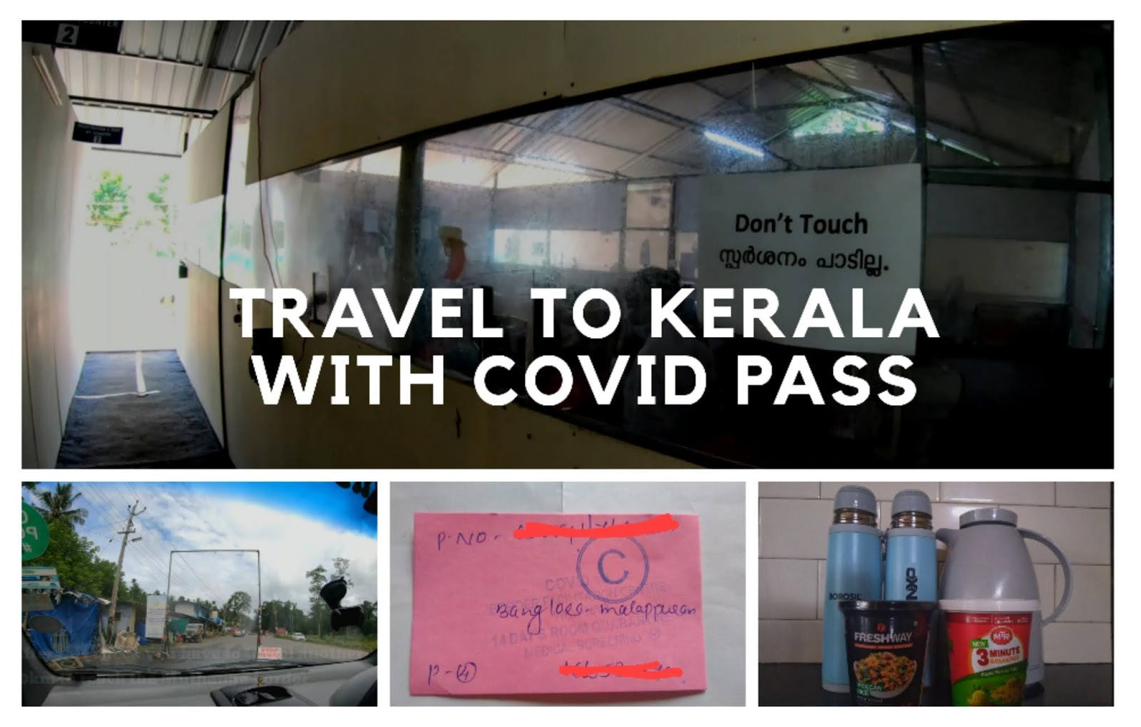 Bangalore to Kerala with COVID Pass, Precautions and COIVD Checks at Muthanga Border