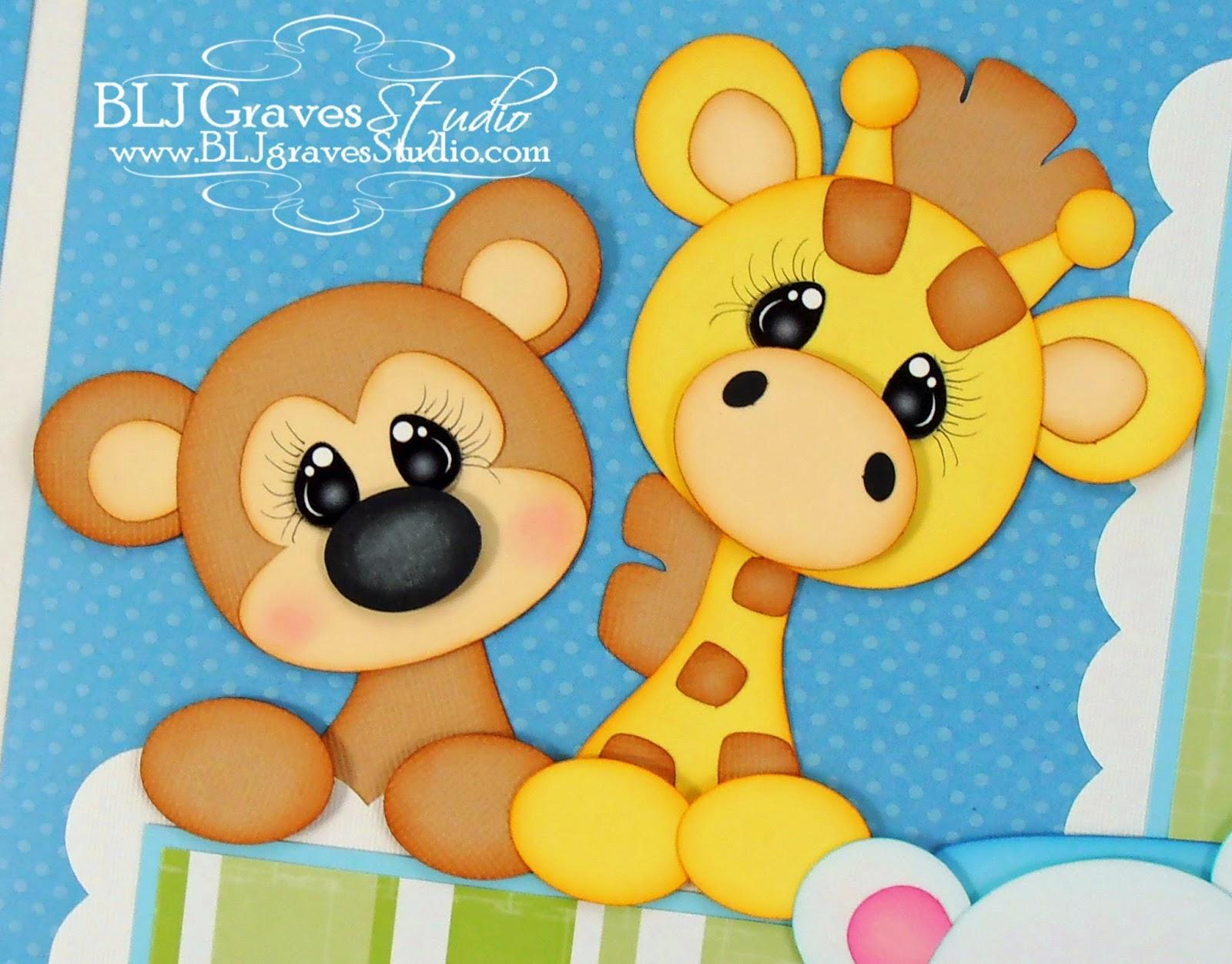 Scrapbook ideas zoo - Baby Boy Train Zoo Scrapbook Pages