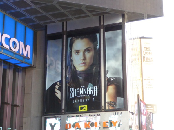 Shannara Chronicles billboard Times Square NYC