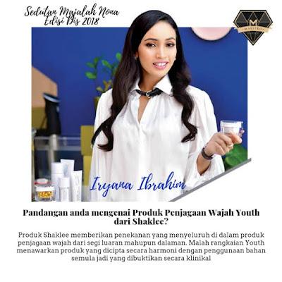 Nona majalah; skin care viral; skin care organik di malaysia; skin care Youth; Youth Shaklee; shaklee labuan; shaklee skin care
