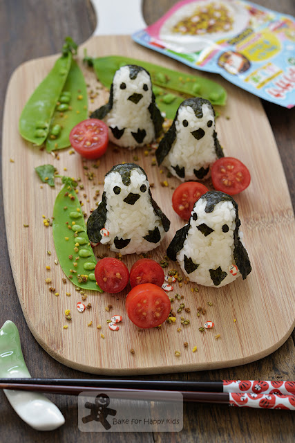 penguin rice ball