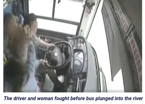 All Passengers Dead As Bus Plunges Into River During Fight Between Driver & Woman