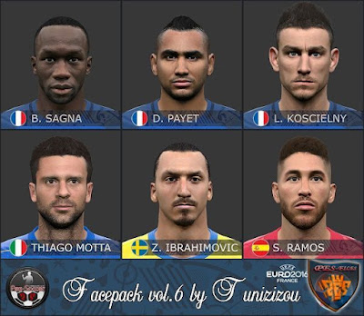 PES 2016 EURO 2016 Facepack vol.6 by Tunizizou