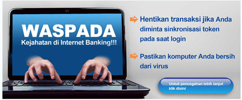 Waspada Kejahatan di Internet Banking Khususnya IB Bank Mandiri