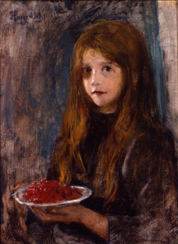 Hans Heyerdahl Girl with strawberries