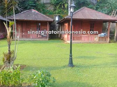 villa kren luas kolam renang bogor sukabumi murah