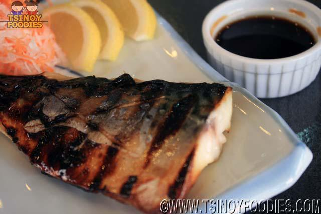 grilled saba mackarel with ponu sauce