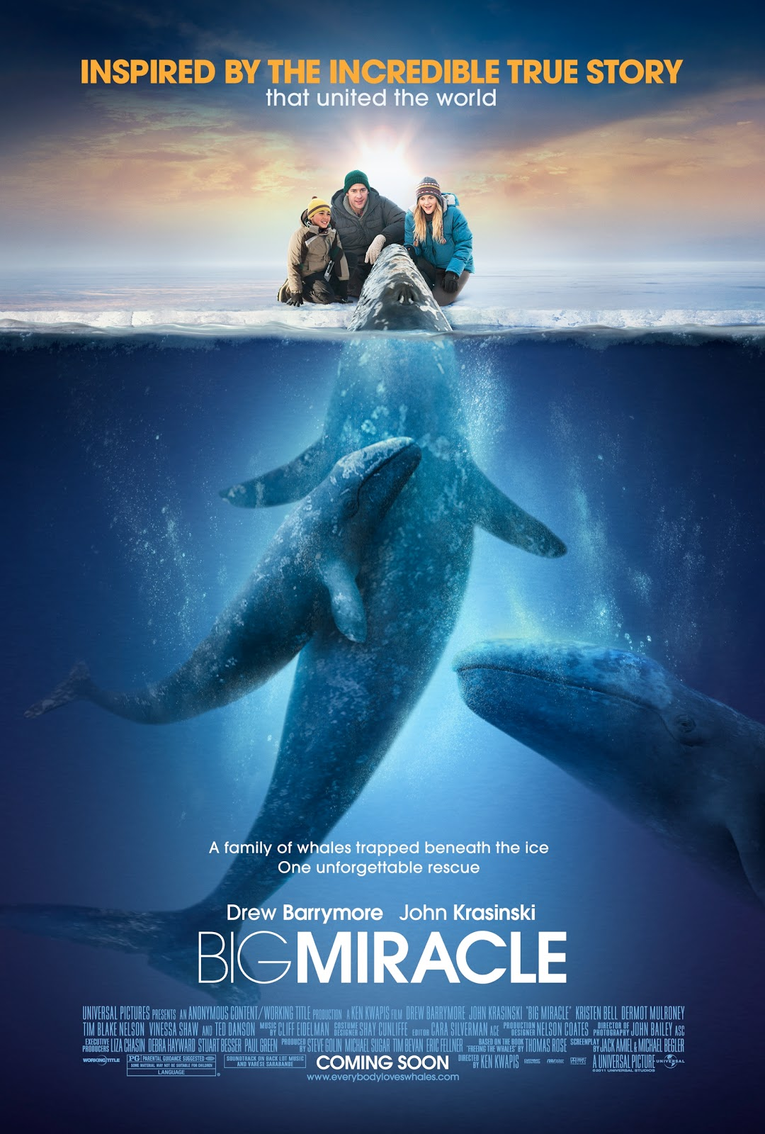True Story Magazine Subscription: Cinemas Tube: Big Miracle- Inspired By A True Story