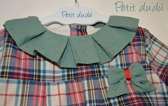 Vestido Estilo cuadro Escocés  Petitdudu
