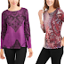 Walmart: $2.50 (Reg. $9.96) Truself Women's Long Sleeve Roundneck Flounce Back Sublimated Tunic!