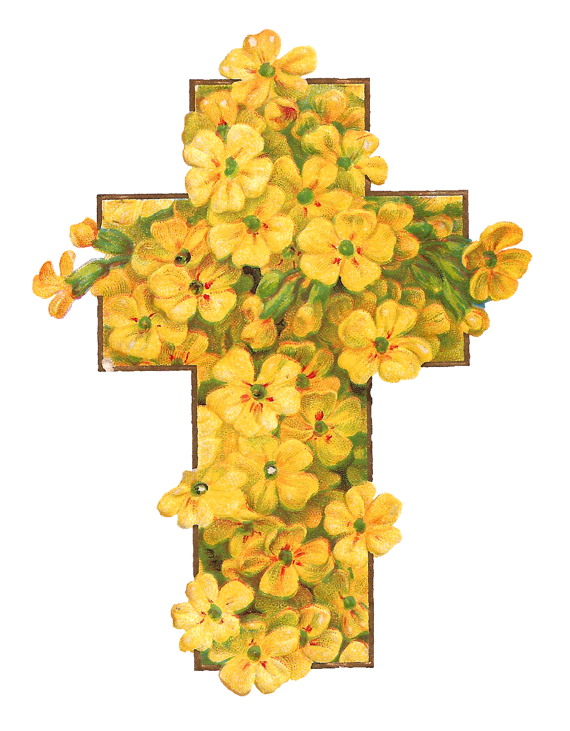 Antique Images: Printable Digital Easter Graphics of Cross ...
