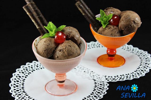 Helado de chocolate express Ana Sevilla con Thermomix