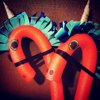 Pool Noodle Unicorns DIY