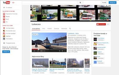 Strona główna kanału Lukaszowo-screen strony głównej.