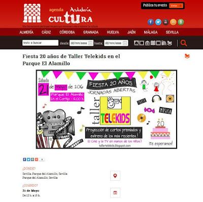 http://www.juntadeandalucia.es/cultura/agendaandaluciatucultura/evento/fiesta-20-anos-de-taller-telekids-en-el-parque-el-alamillo