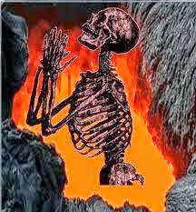 man burning in hell fire
