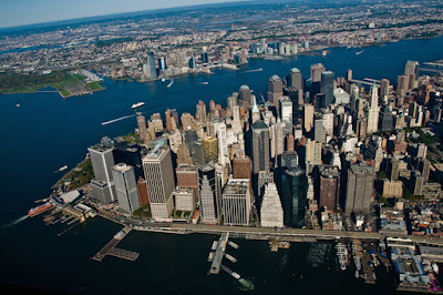 One of The Five Boroughs of New York Manhattan
