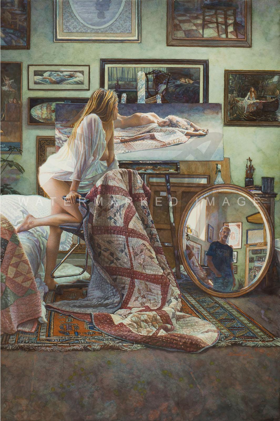 Steve Hanks In The Artist s Studio