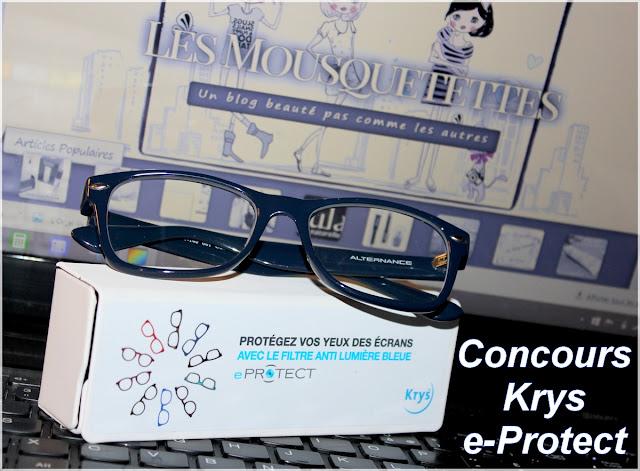 Résultat Concours lunettes eProtect by Krys sur le blog beauté Les Mousquetettes