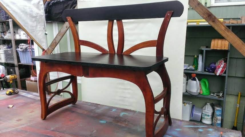 Gregs Repurpose & Upcycle : Upcycled Chairs Make a great Bench