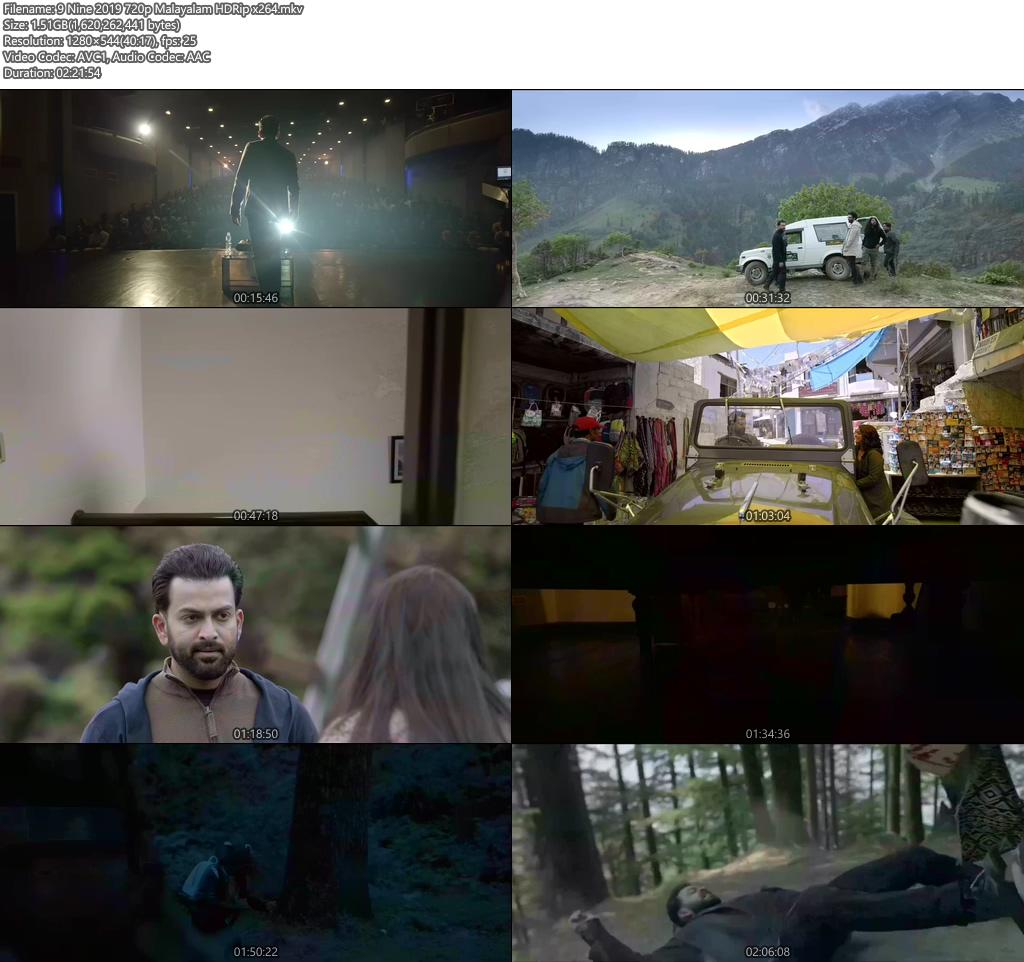 9 Nine 2019 720p Malayalam HDRip x264 | 480p 300MB | 100MB HEVC Screenshot