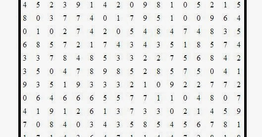 Free printable Word Search and Sudokus: Number Search Puzzle 1