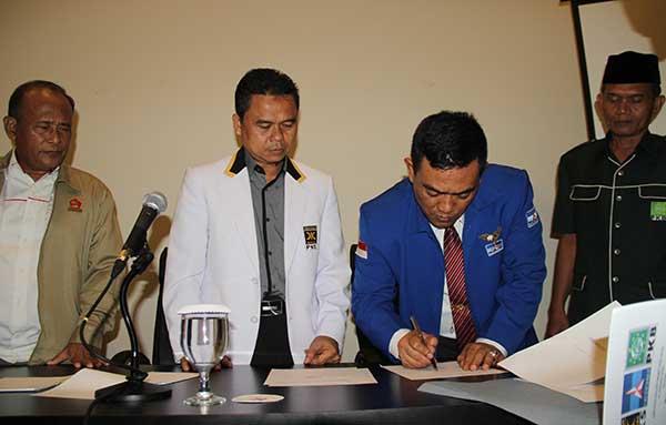 empat parpol tandatangan kesepakatan koalisi cirebon maju