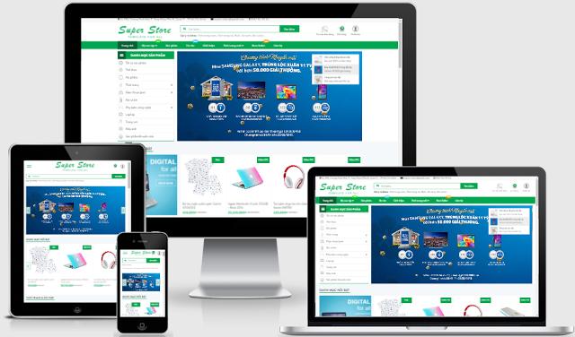 Template bán hàng thương mại điện tử Blogspot