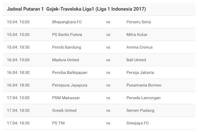 Jadwal Liga Pekan Persib Bandung Vs Barito Putera