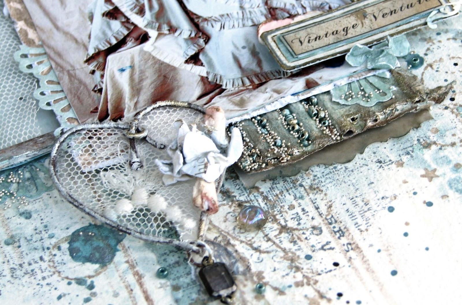 Scraps of Elegance: Lace and Wood Challenge at Scrap Magic