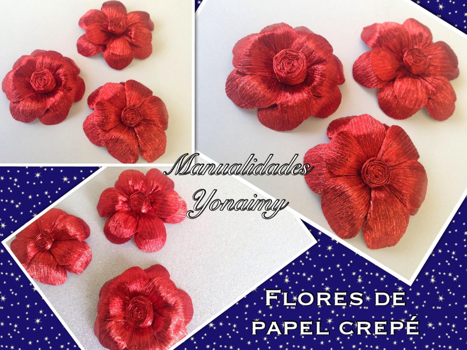 Flores Hechas Con Papel Crepe