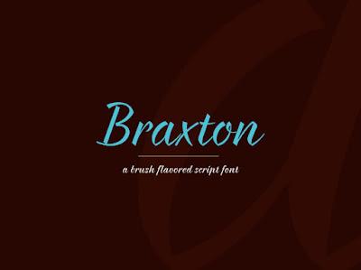 braxton free script font