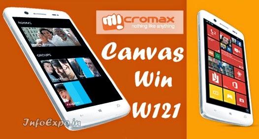 Micromax Canvas Win W121: 5 inch Windows 8.1 SmartPhone Specs and Price