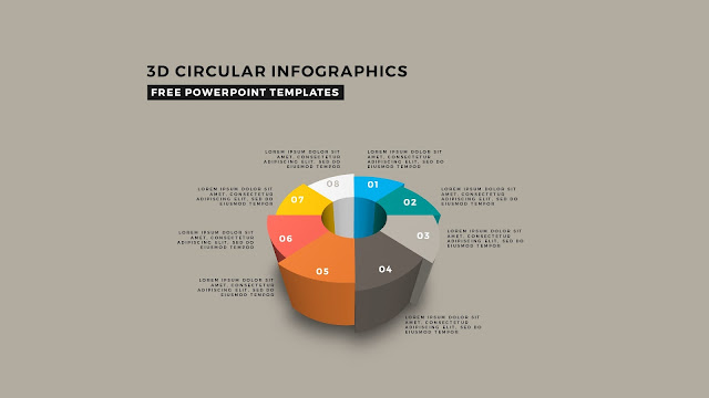 3D Circular Infographic Free PowerPoint Template Slide 3