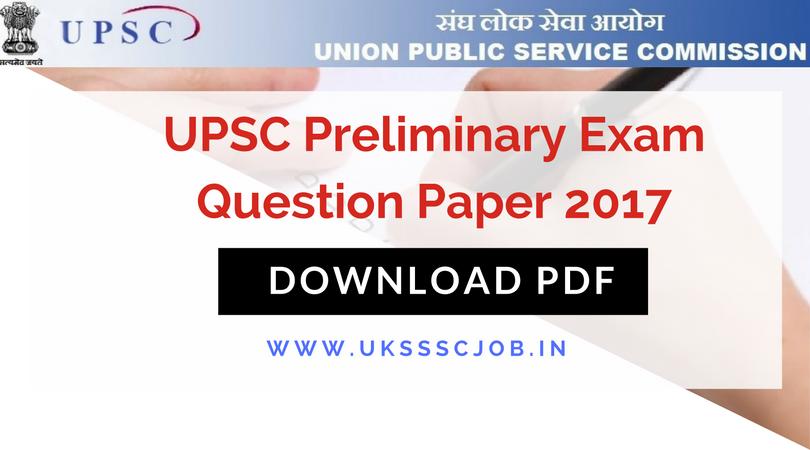 Pdf question paper upsc exam