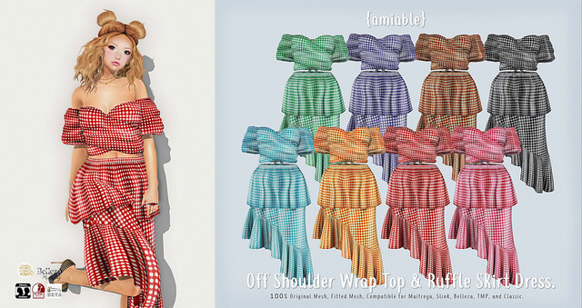 {amiable}Off Shoulder Wrap Top & Ruffle Skirt Dress@N°21 April(50%OFF SALE).