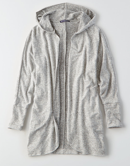 American Eagle: Plush Hooded Cardigans only $20 (reg $40)!
