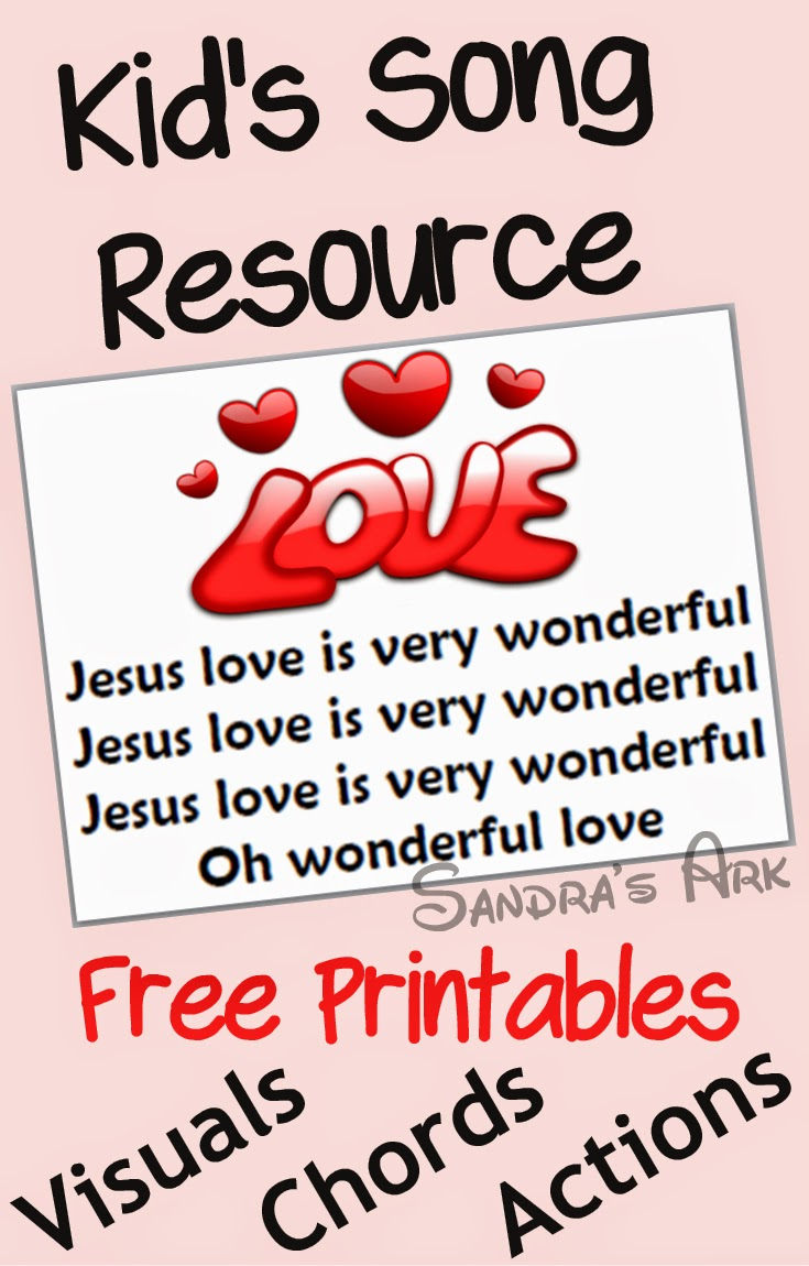 Sandras Ark Christian Songs For Kids Jesus Love Is Very Wonderful