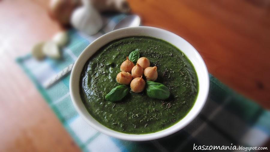 Zupa krem z kaszy jaglanej i szpinaku