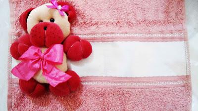 toalha de boca com urso
