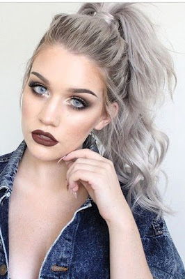 cool gray hairstyle