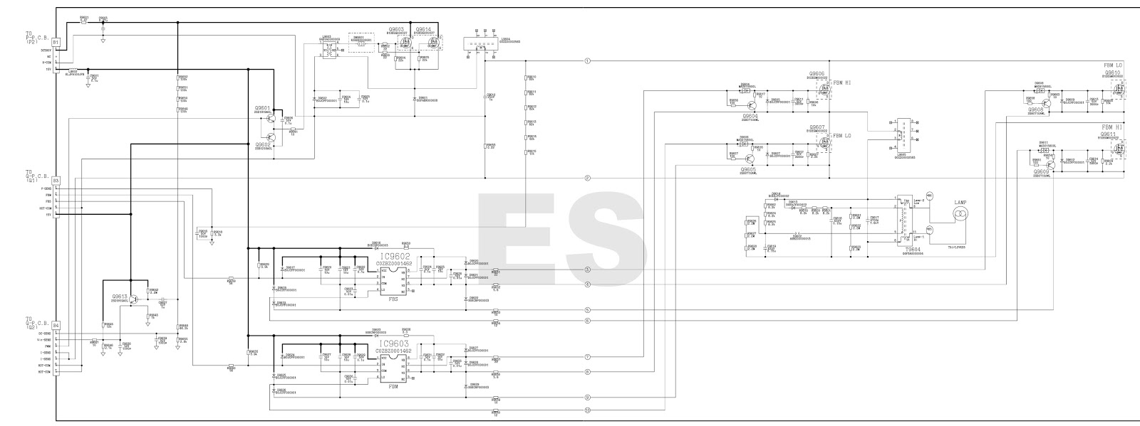 electronic equipment repair centre   panasonic pt-ax100 ext option - self check mode