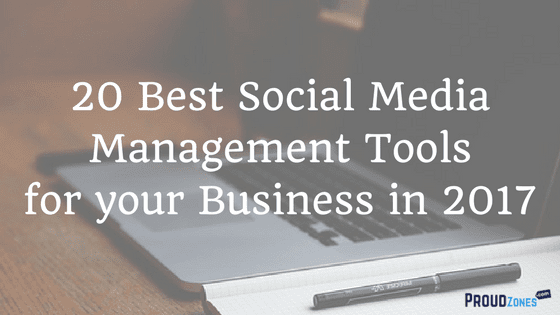 social media marketing management tools business