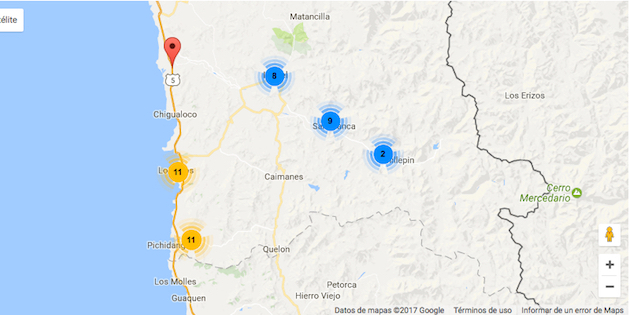 Mapa geo-referenciado
