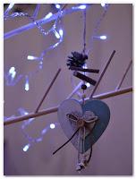 décoration de Noël coeur naturel