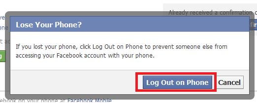 Facebook Logout Mobile Devices