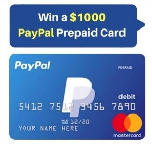 Win a $1000 PayPal Prepaid card – Limited Time Offer!