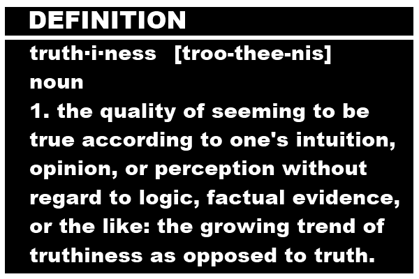 Dictionary.com definition of truthiness