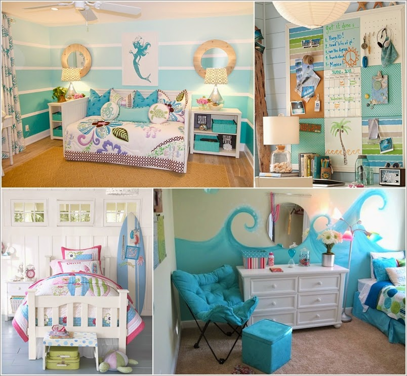 Home interior design adorable sea themed kids room wall for Childrens themed bedroom ideas