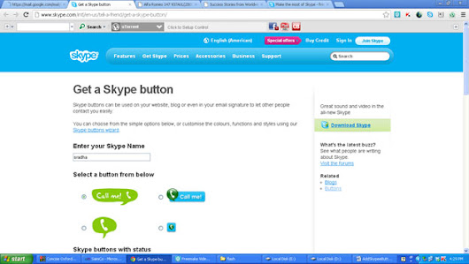 How To Add Skype Button in your website | Sradha WebCreations